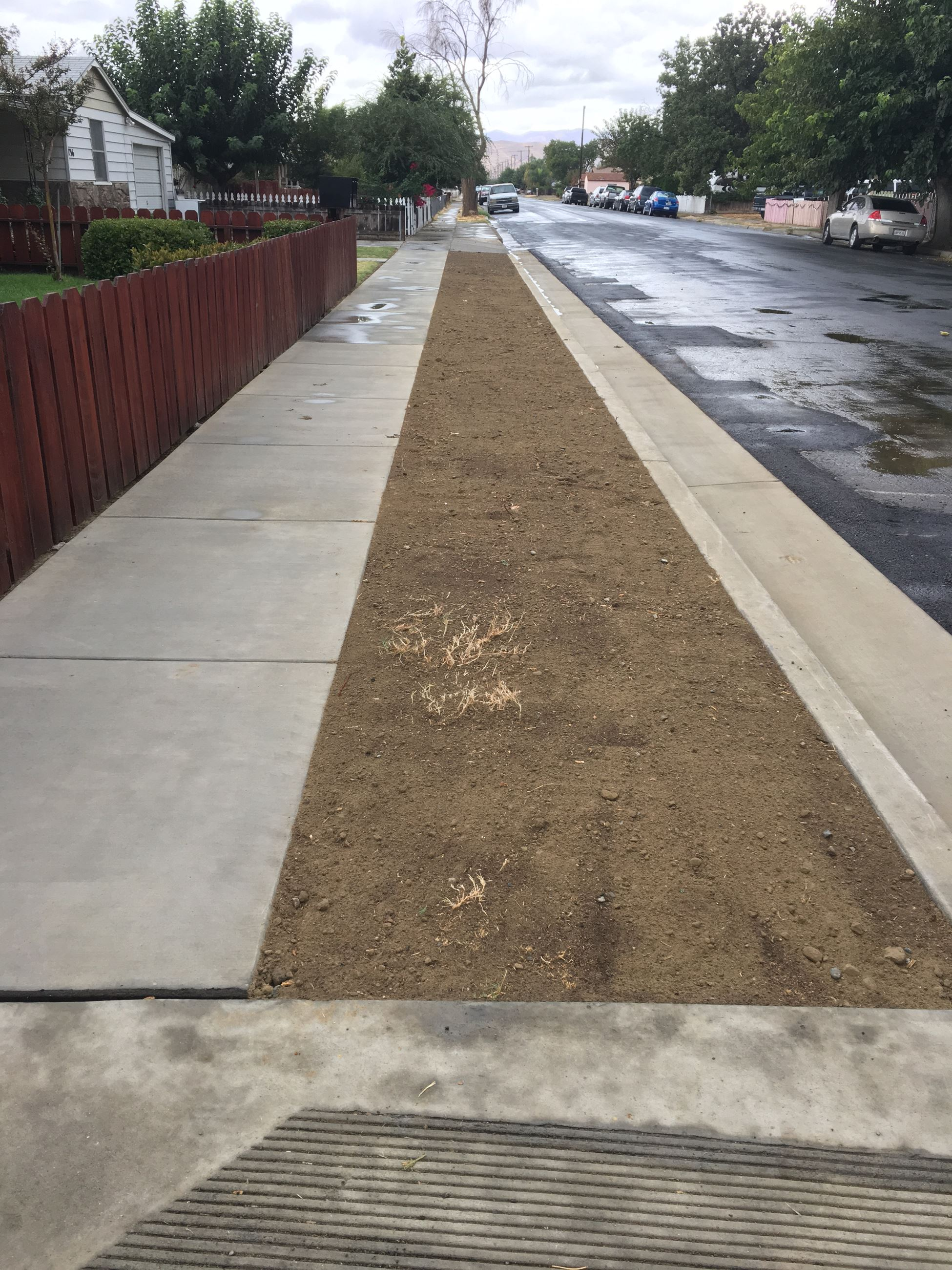 740 E Valley new sidewalk and median area