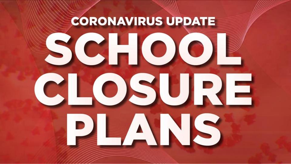 School Closure written in white on red background